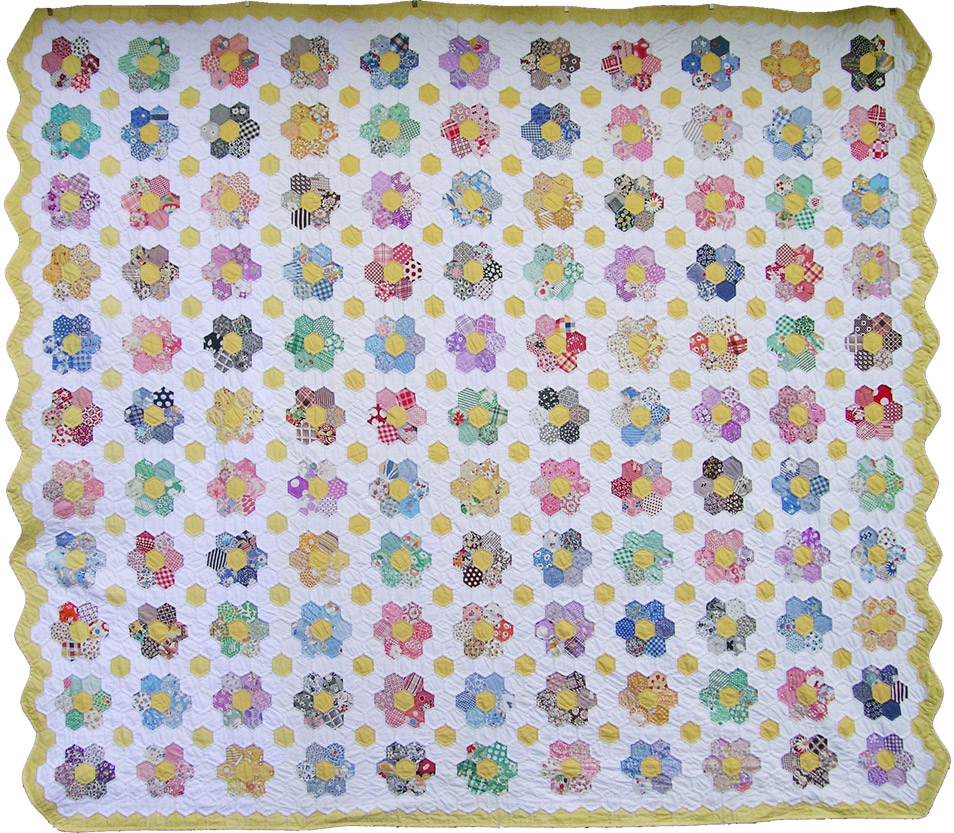Grandmother's Flower Garden Quilt – Q is for Quilter : grandmother flower garden quilt - Adamdwight.com